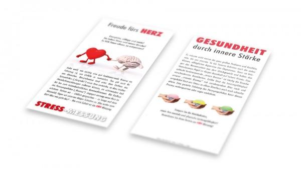 """Flyer """"Freude fürs Herz"""" Stressmessung"""