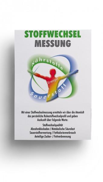 """Poster DIN A1 """"Stoffwechselmessung"""""""