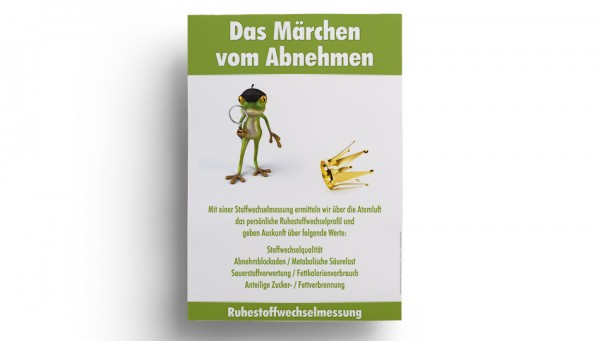 """Stoffwechsel Poster DIN A4 """"Märchen vom Abnehmen"""""""